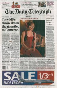 Daily Telegraph 16 January 2013