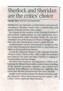 Evening Standard 24 January 2012