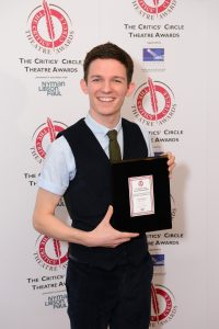 Jan 2016: David Moorst won the Jack Tinker Award for Most Promising Newcomer for Violence and Son