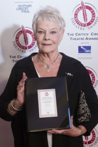 Jan 2016: Judi Dench won the Trewin Award for Best Shakespearean Performance for The Winter's Tale