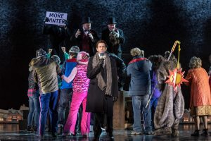 Andy Karl and the cast of Groundhog Day