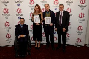 Billie Piper & Stephen Dillane Paul Taiano and Anthony Pins from sponsors Nyman Libson Paul