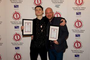 Anthony Boyle & John Tiffany with Harry Potter & the Cursed Child's three Critics' Circle Theatre Awards