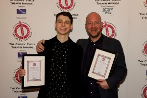 Jan 2017: Anthony Boyle & John Tiffany with Harry Potter & the Cursed Child's three Critics' Circle Theatre Awards