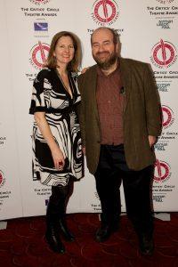 Awards organiser Terri Paddock & host Mark Shenton