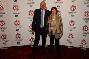 Critics' Circle Theatre Awards sponsors Edgar and Judith Wallner