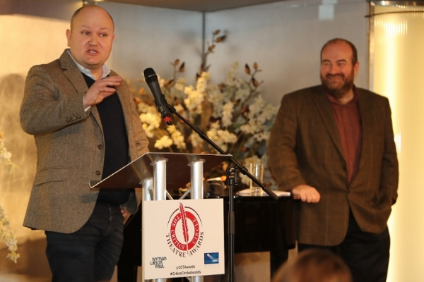 Henry Hitchings (left) takes over from Mark Shenton (right) as Chair of the Drama Section