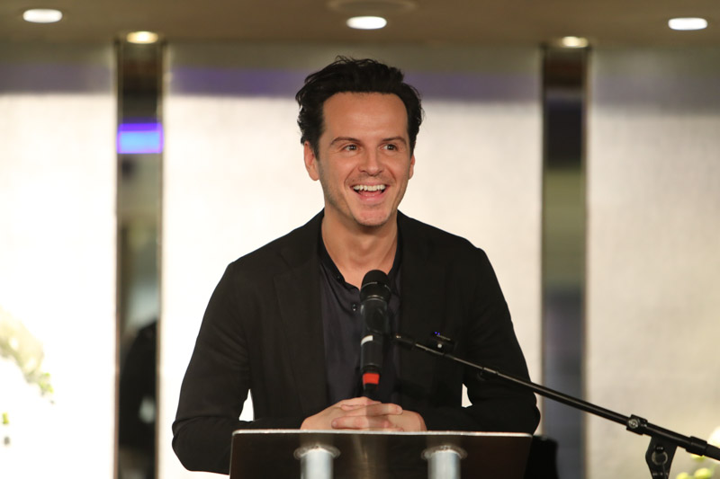 Andrew Scott wins Best Actor at the 2019 Critics' Circle Theatre Awards for Present Laughter