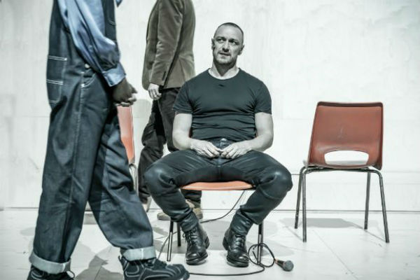 James McAvoy in Cyrano de Bergarac at the Playhouse Theatre