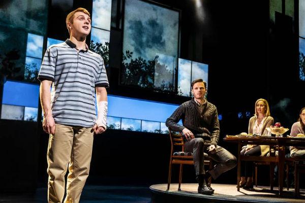 Sam Tutty in Dear Evan Hansen at the Noel Coward Theatre